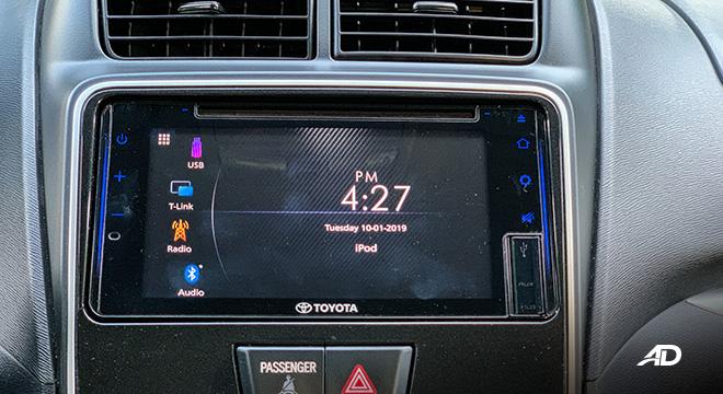 toyota avanza road test infotainment interior
