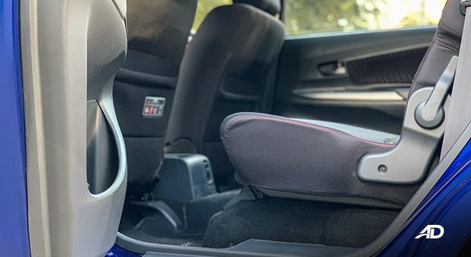 toyota avanza road test second row interior philippines