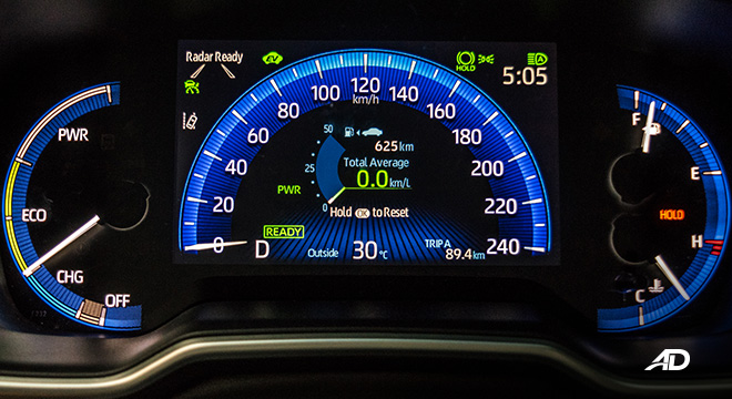 Toyota corolla altis hybrid review road test instrument cluster interior philippines