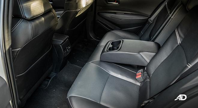 Toyota corolla altis hybrid review road test rear seats interior