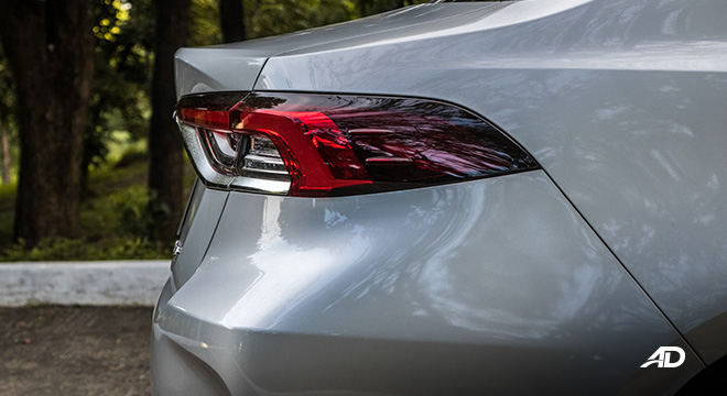 Toyota corolla altis hybrid review road test rear side exterior philippines