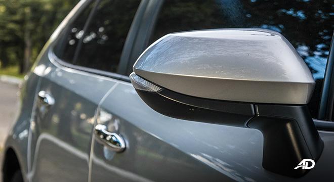 Toyota corolla altis hybrid review road test side mirror exterior