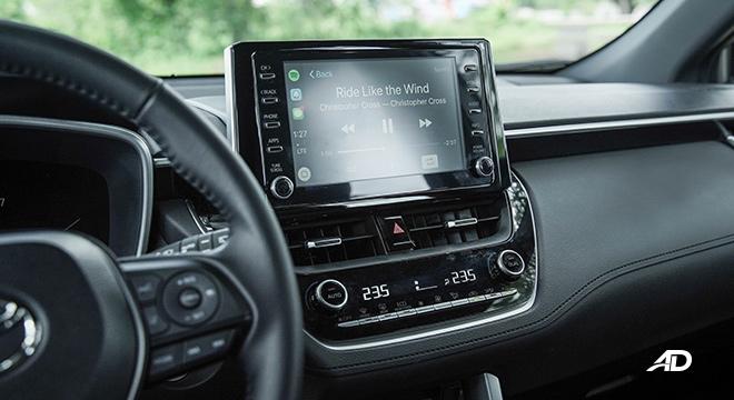 Toyota Corolla Cross infotainment system