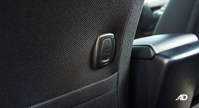 Toyota HIlux Conquest road test cargo hook rear seat