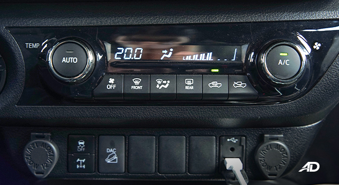 Toyota HIlux Conquest road test climate controls