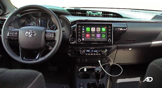 Toyota HIlux Conquest road test dashboard