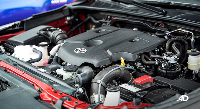 Toyota HIlux Conquest road test engine bay