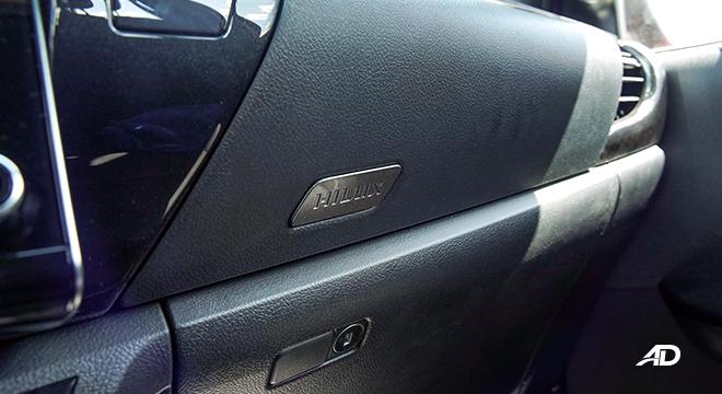 Toyota HIlux Conquest road test hilux badge interior