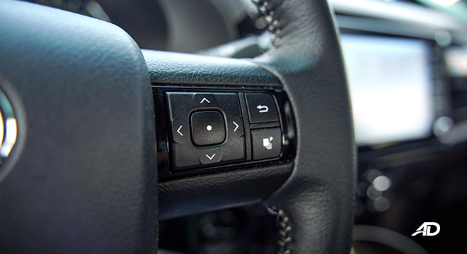 Toyota HIlux Conquest road test infotainment controls