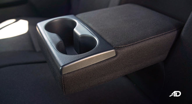Toyota HIlux Conquest road test rear cup holders