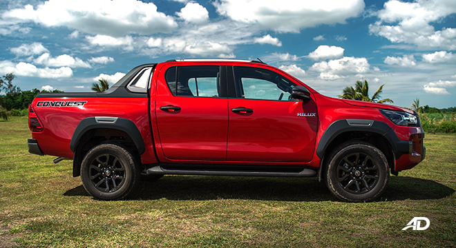 Toyota HIlux Conquest road test side profile