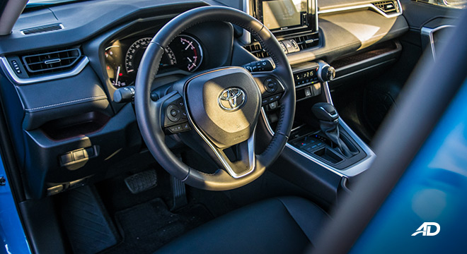 toyota rav4 road test review front cabin interior philippines