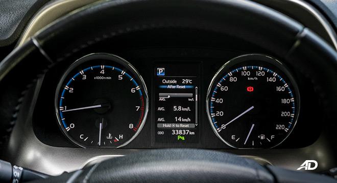toyota rav4 road test review instrument cluster interior philippines