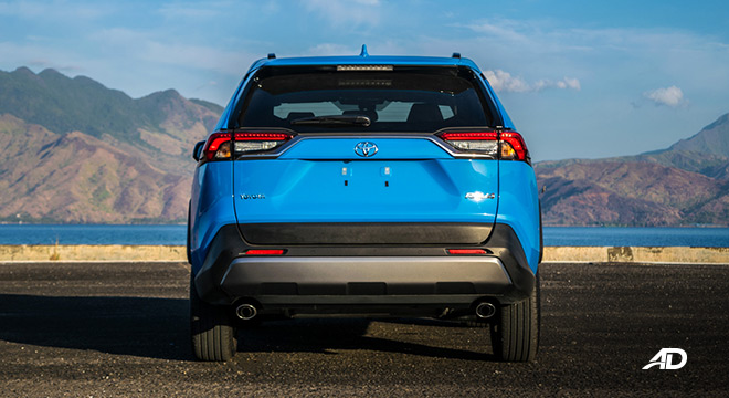 toyota rav4 road test review rear exterior philippines