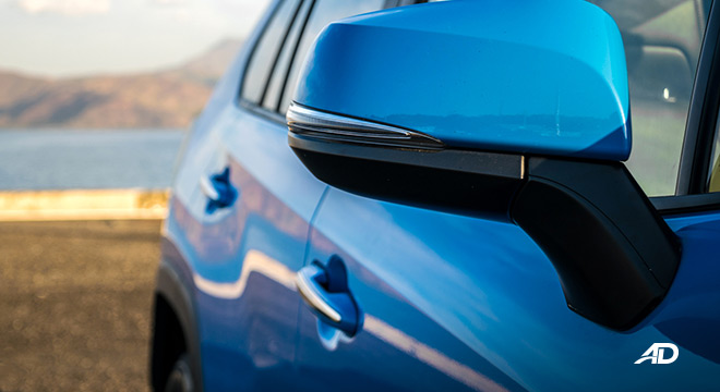 toyota rav4 road test review side mirror exterior