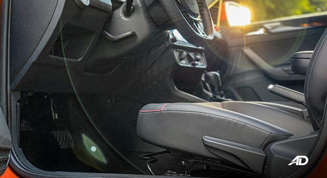 volkswagen santana GTS road test review front cabin interior