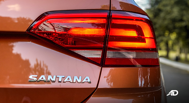 volkswagen santana GTS road test review LED taillights exterior philippines