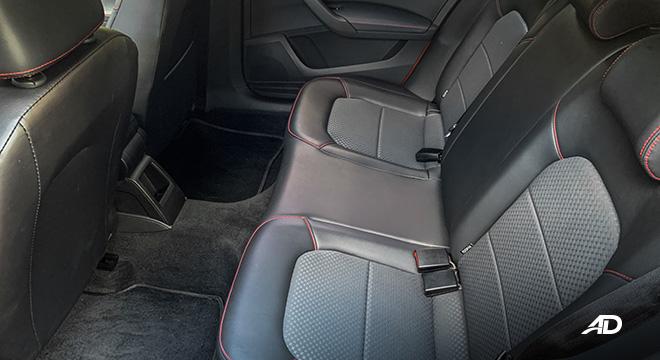 volkswagen santana GTS road test review rear seats interior