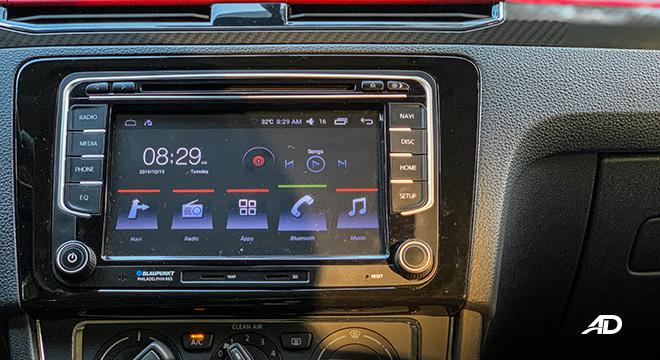 volkswagen santana GTS road test review touchscreen infotainment interior