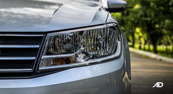 volkswagen santana road test exterior head lights