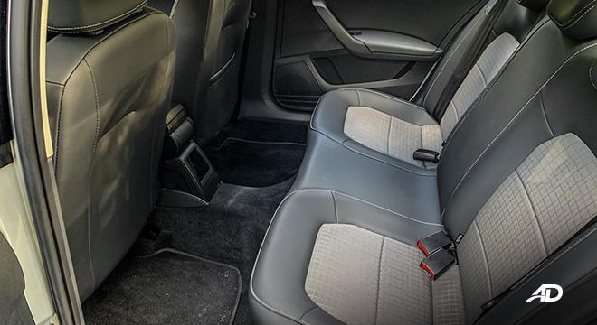 volkswagen santana road test interior rear cabin