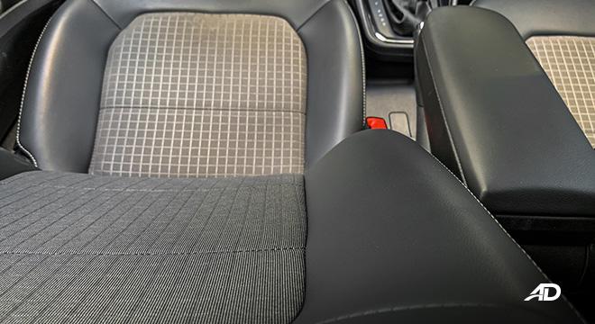 volkswagen santana road test interior seats