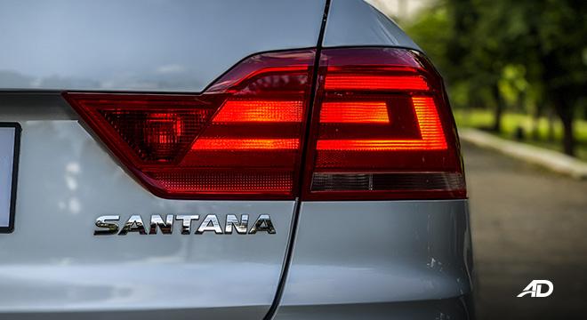 volkswagen santana road test taillights