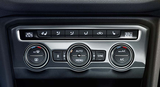 Volkswagen Tiguan 2018 air-conditioning unit
