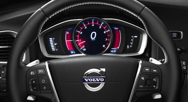 Volvo V60 2018 steering wheel instrument cluster