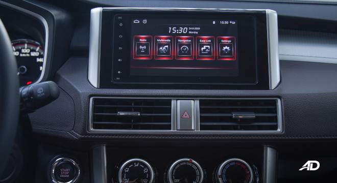 Xpander Cross Philippines infotainment system