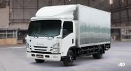 Isuzu N-Series Blue Power truck