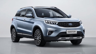 2021 Ford Territory moonstone blue front quarter right