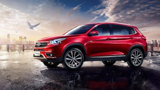 Chery Tiggo 7 Exterior Side Quarter Red
