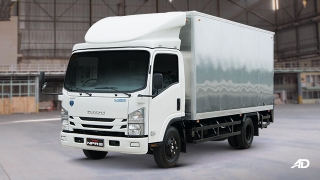 Isuzu N-Series Blue Power truck