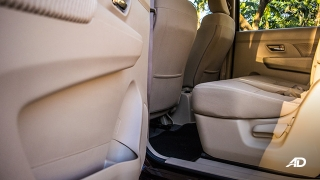 suzuki ertiga road test interior second row