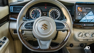 suzuki ertiga road test interior steering wheel