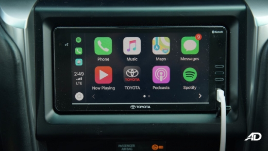 2021 Toyota Fortuner G DSL Philippines interior 6.75-inch touchscreen infotainment system