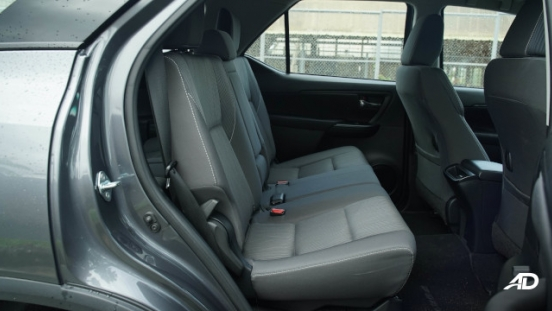 2021 Toyota Fortuner G DSL Philippines Interior middle row seats