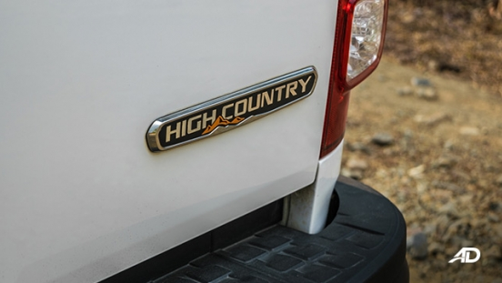 chevrolet colorado high country storm road test exterior badge