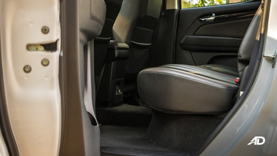 chevrolet colorado high country storm road test interior rear cabin