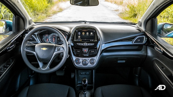 chevrolet spark road test interior dashboard philippines