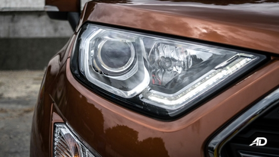 ford ecosport titanium road test exterior headlights