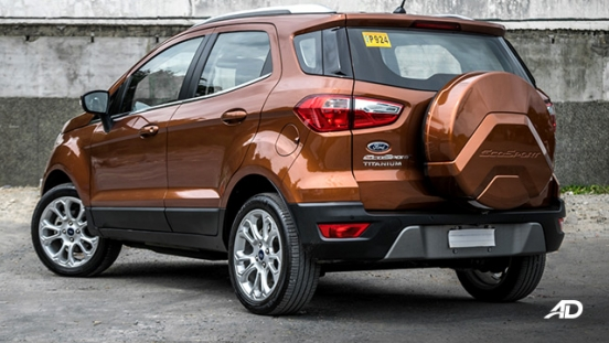 ford ecosport titanium road test exterior rear