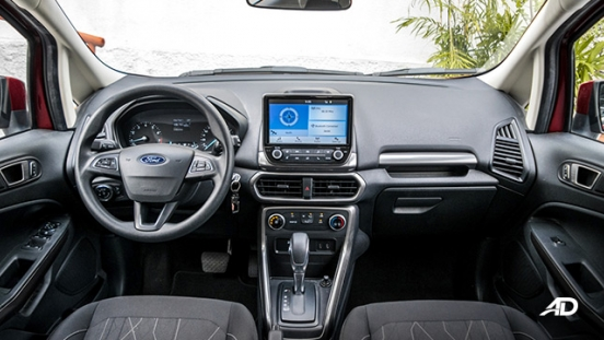 ford ecosport trend road test interior dashboard philippines