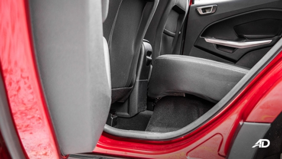 ford ecosport trend road test interior rear cabin