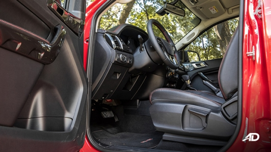ford ranger fx4 front cabin legroom interior