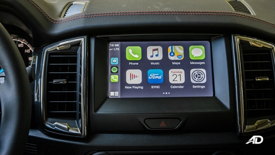 ford ranger fx4 infotainment touchscreen apple carplay interior philippines