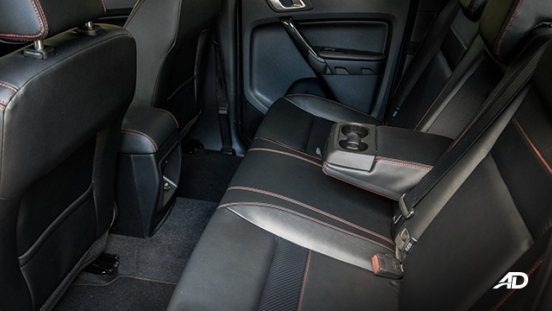 ford ranger fx4 rear cabin interior