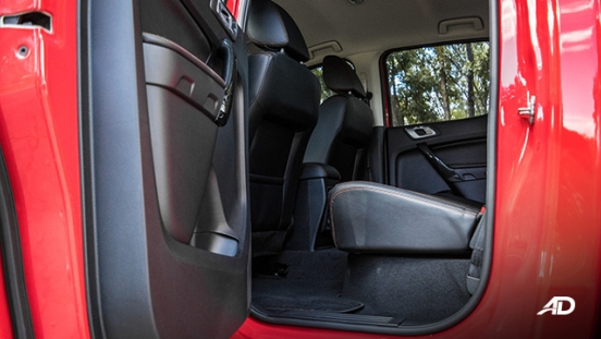 ford ranger fx4 rear cabin legroom interior