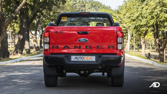 ford ranger fx4 rear view exterior philippines